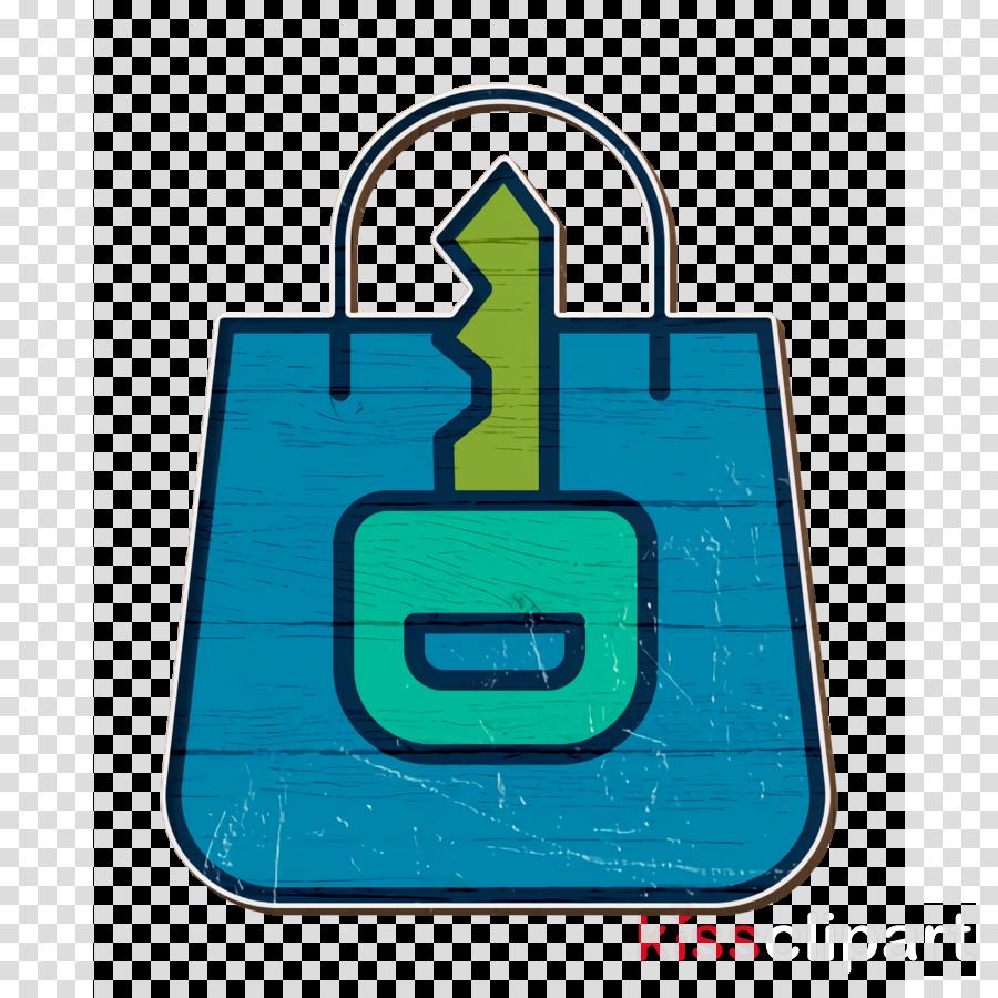 Shopping bag icon Safe icon Cyber icon