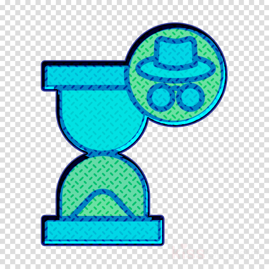 Cyber icon Hacker icon Hourglass icon