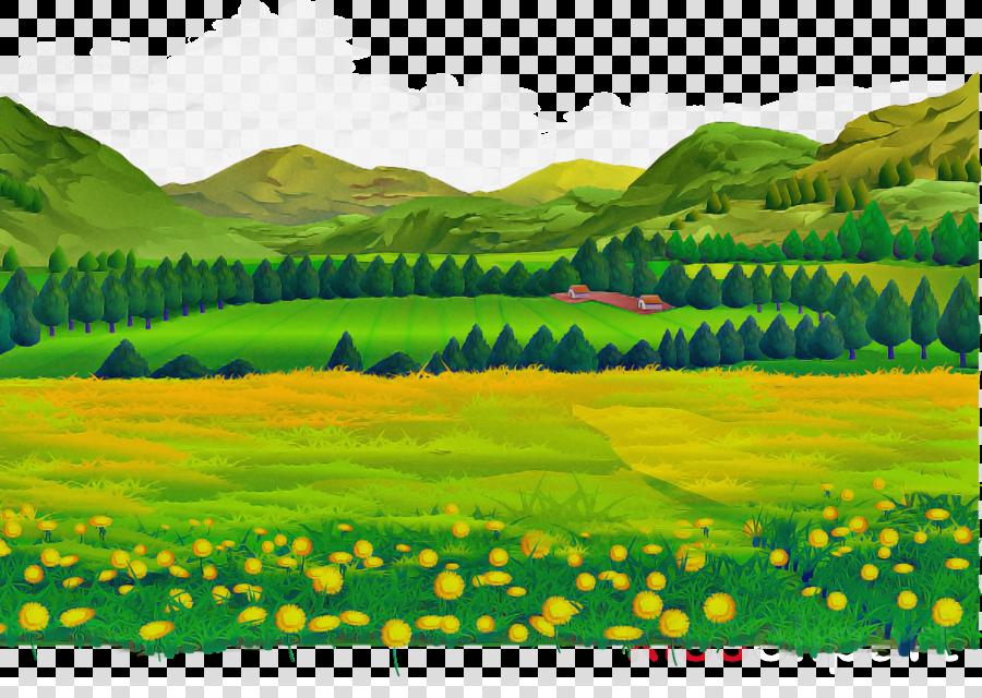 natural landscape nature grassland green meadow