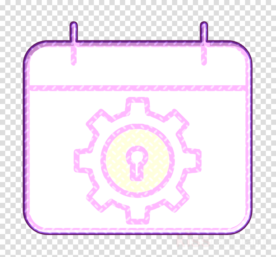 Cyber icon Time and date icon Calendar icon