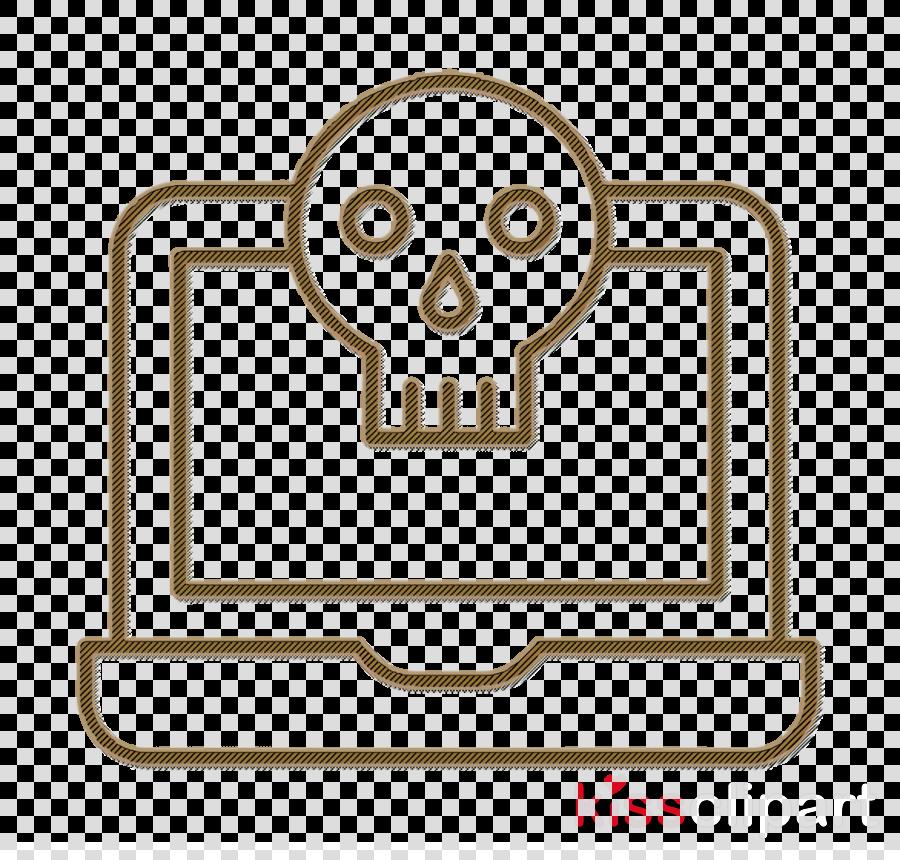 Skull icon Laptop icon Cyber icon