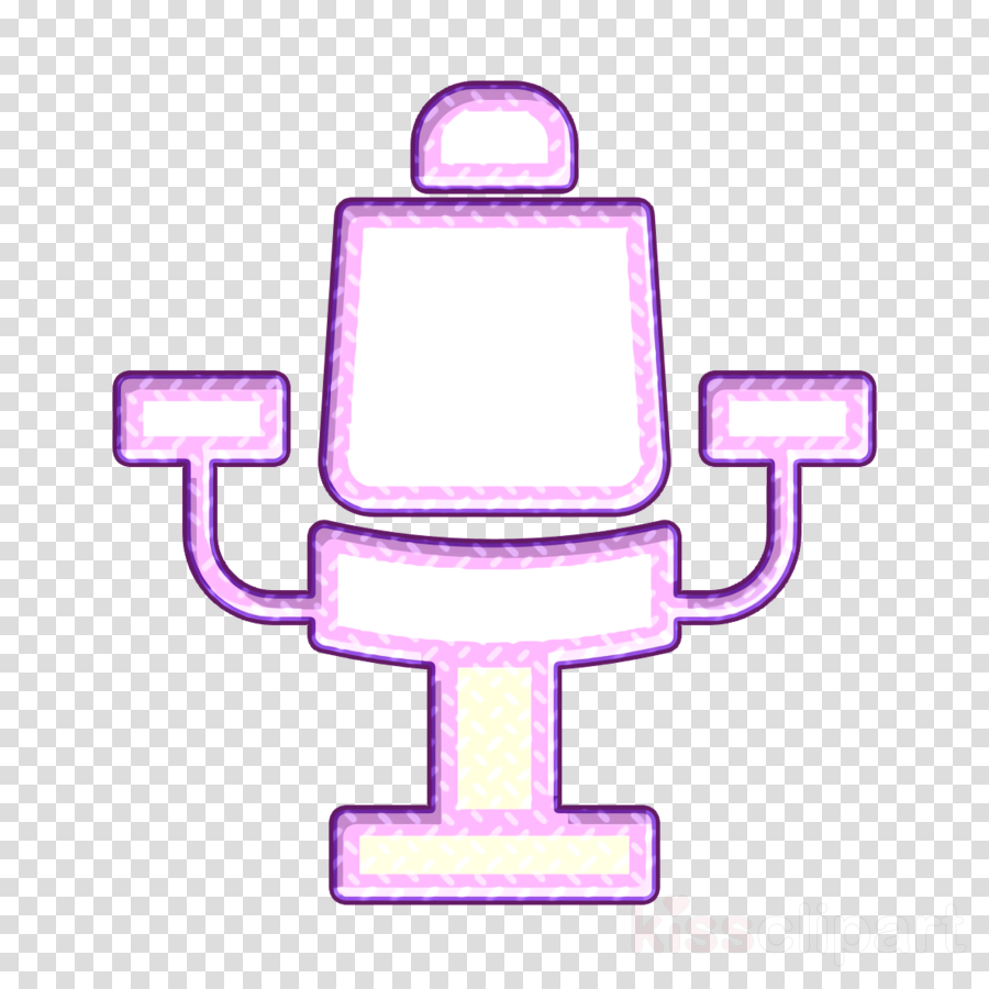 Hairdresser icon Seat icon Chair icon