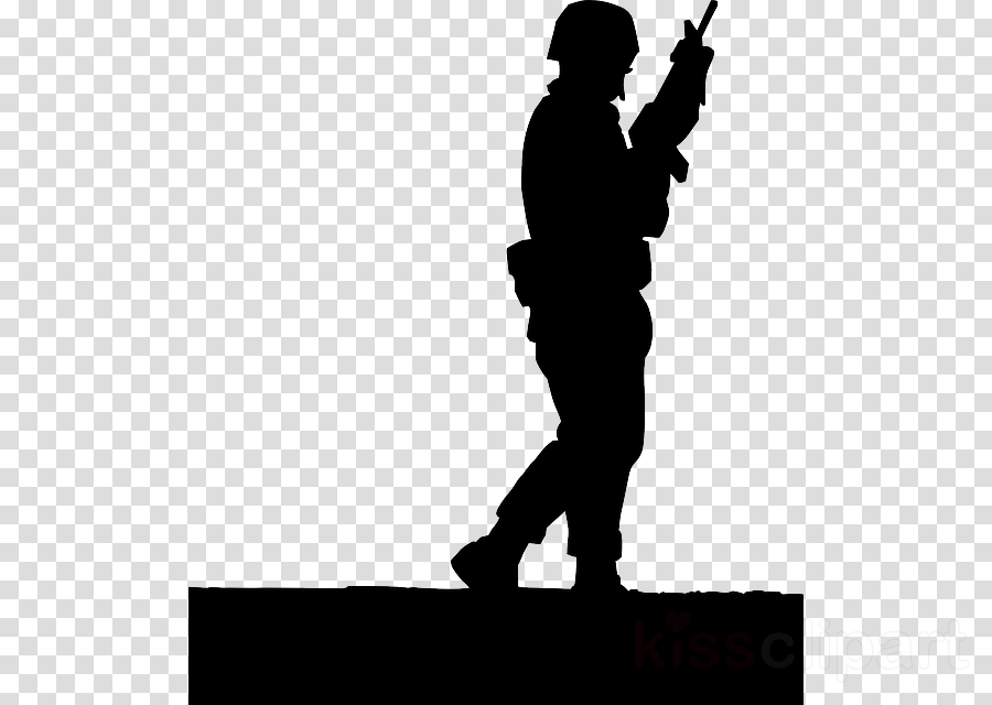 silhouette standing soldier army men