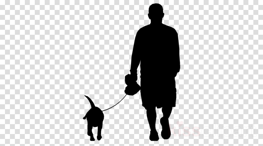 dog walking leash silhouette standing shadow