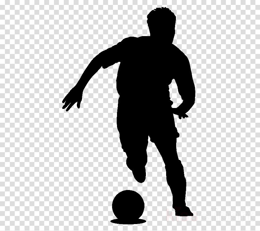 silhouette standing football volleyball player ball
