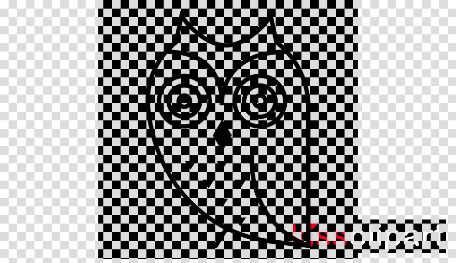 white owl line art head cartoon