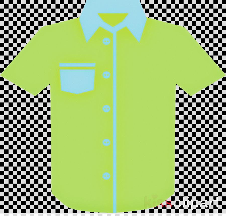 green clothing white t-shirt collar