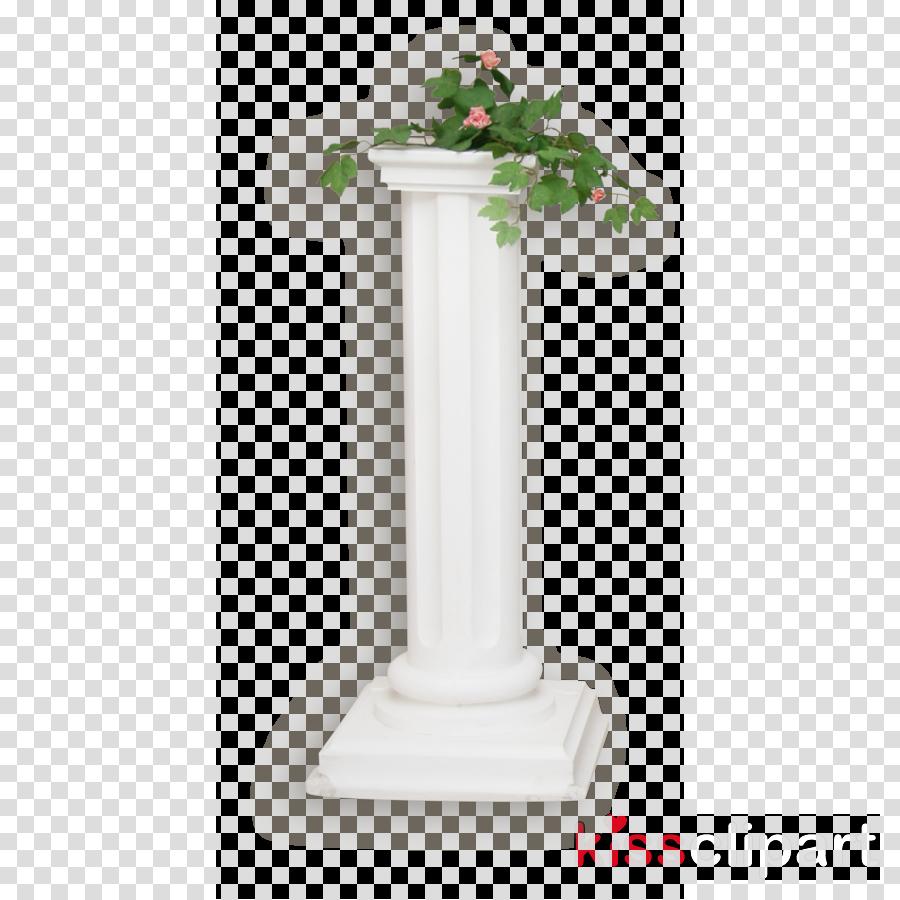 pedestal column vase plant flowerpot
