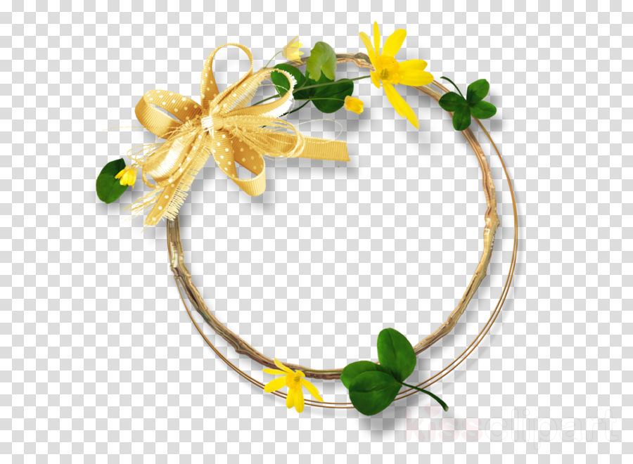 yellow flower hair accessory plant jewellery
