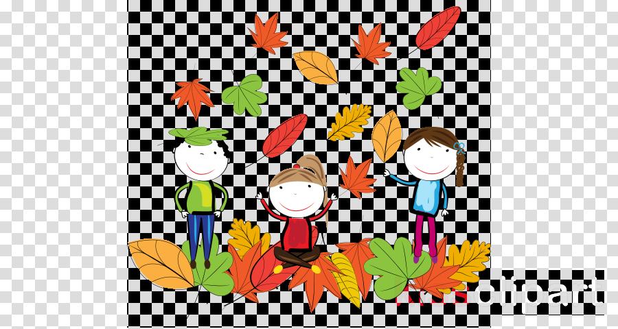 cartoon leaf child art plant autumn