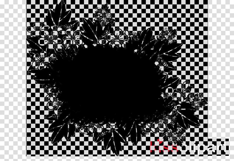 leaf black-and-white plant flower wreath