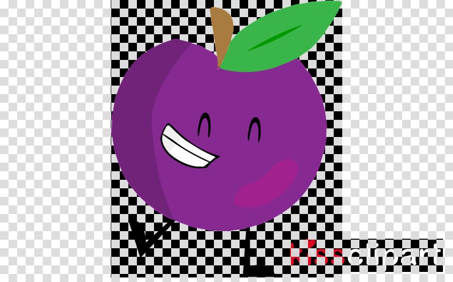 purple fruit violet cartoon apple