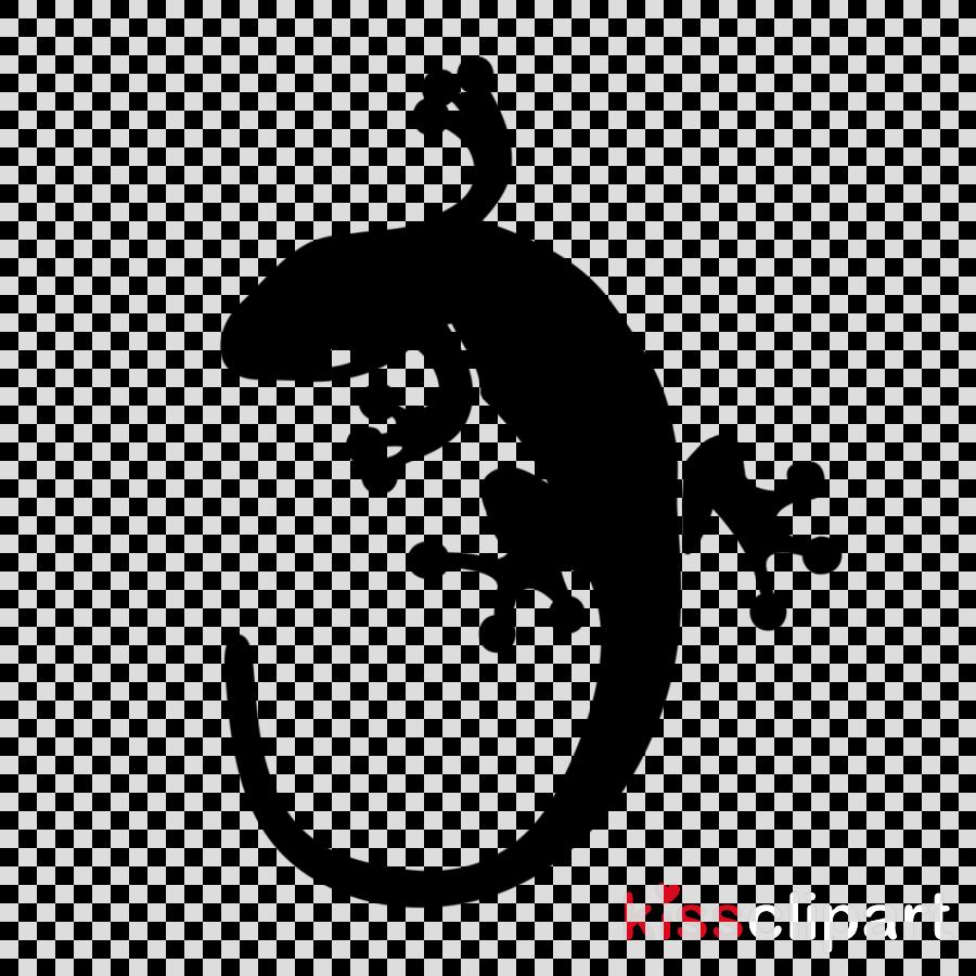 lizard true salamanders and newts gecko silhouette font