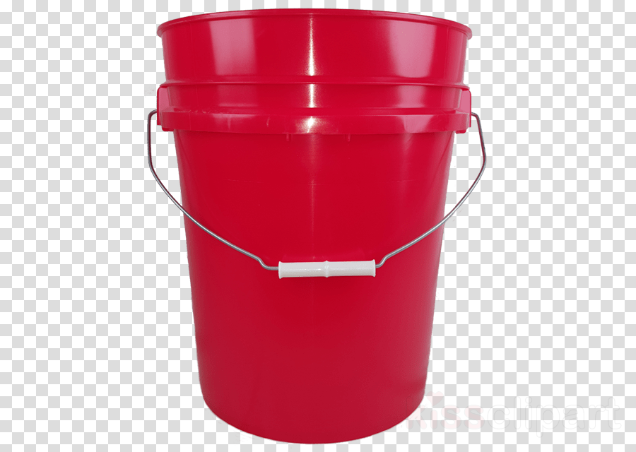 red bucket plastic food storage containers lid