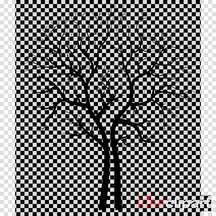 tree branch leaf plant line art