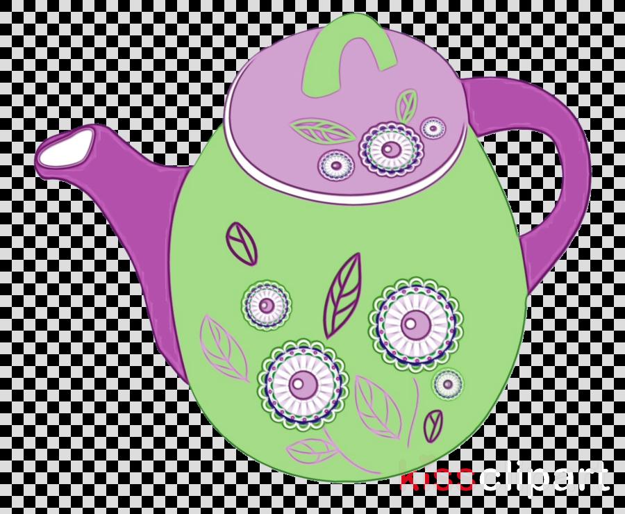 teapot kettle purple violet tableware