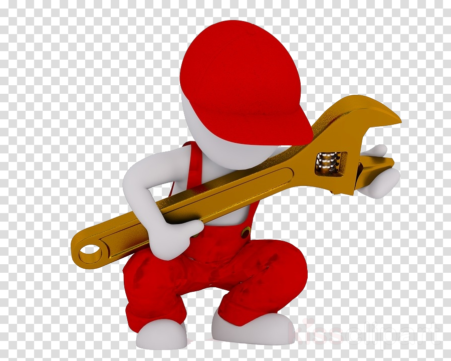 cartoon toy pipe wrench wrench figurine
