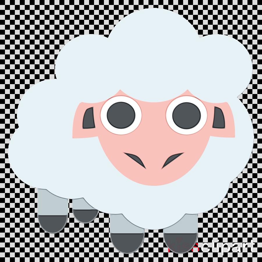 cartoon pink nose snout sheep