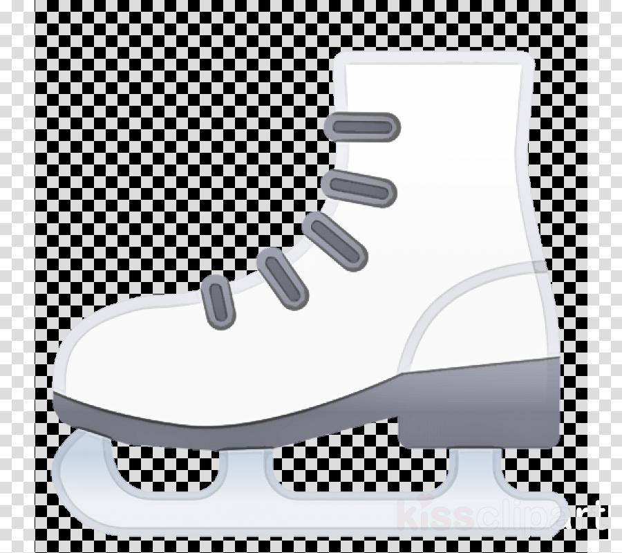 figure skate white footwear ice skate ice hockey equipment
