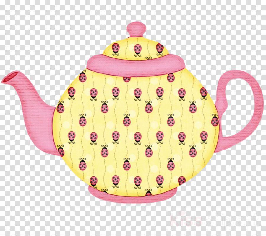 teapot kettle pink tableware lid