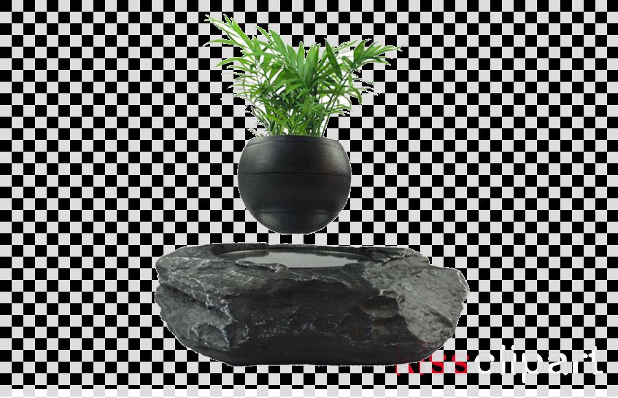 black rock flowerpot vase aquarium decor