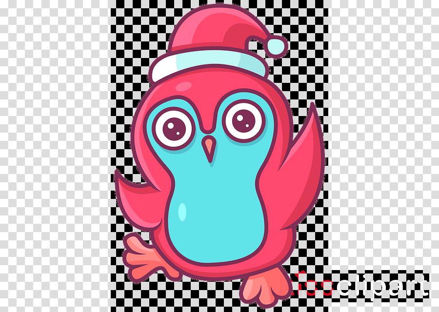 pink bird cartoon owl magenta
