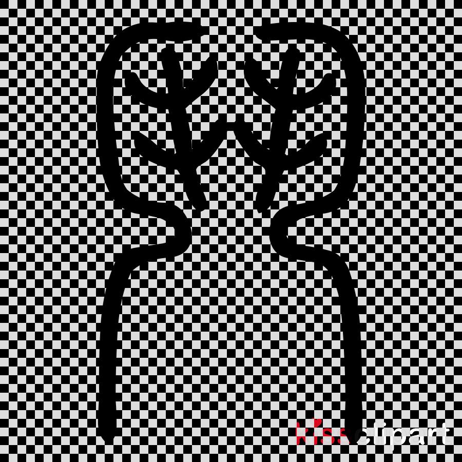 line font finger black-and-white
