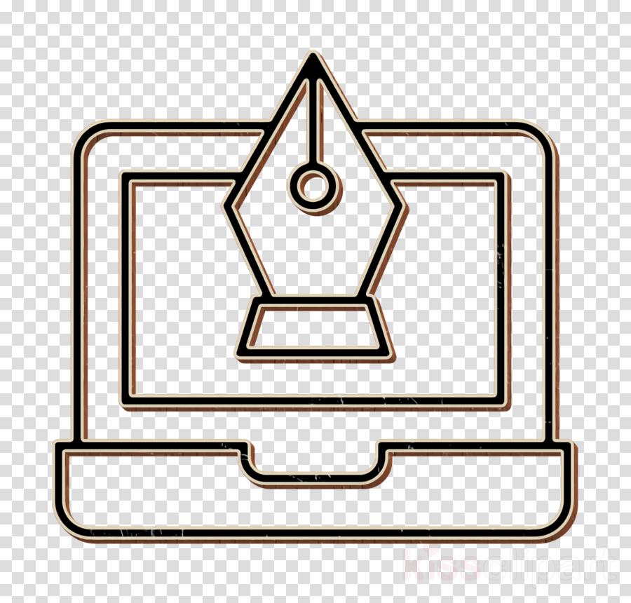 Fountain pen icon Art and design icon Creative icon