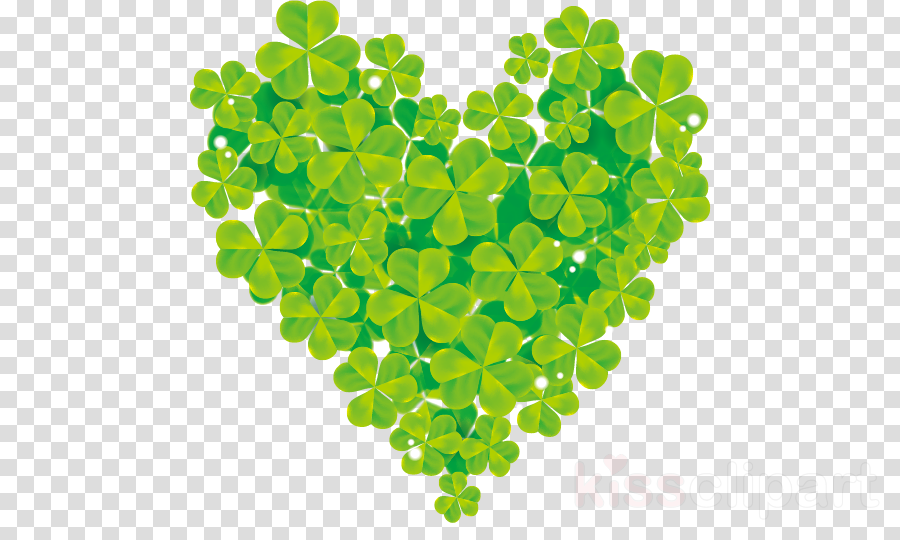 green leaf symbol plant heart