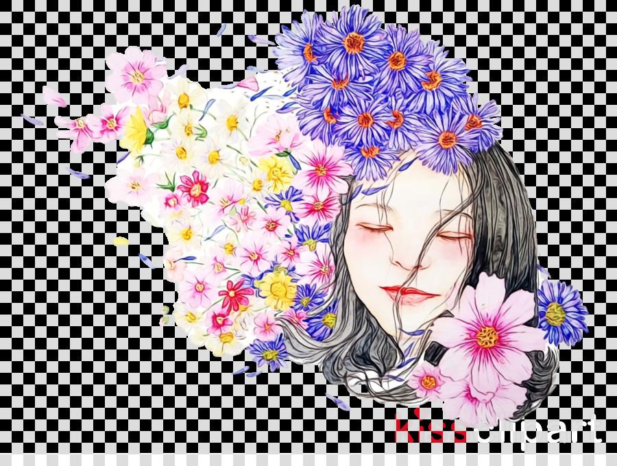 flower plant watercolor paint wildflower bouquet