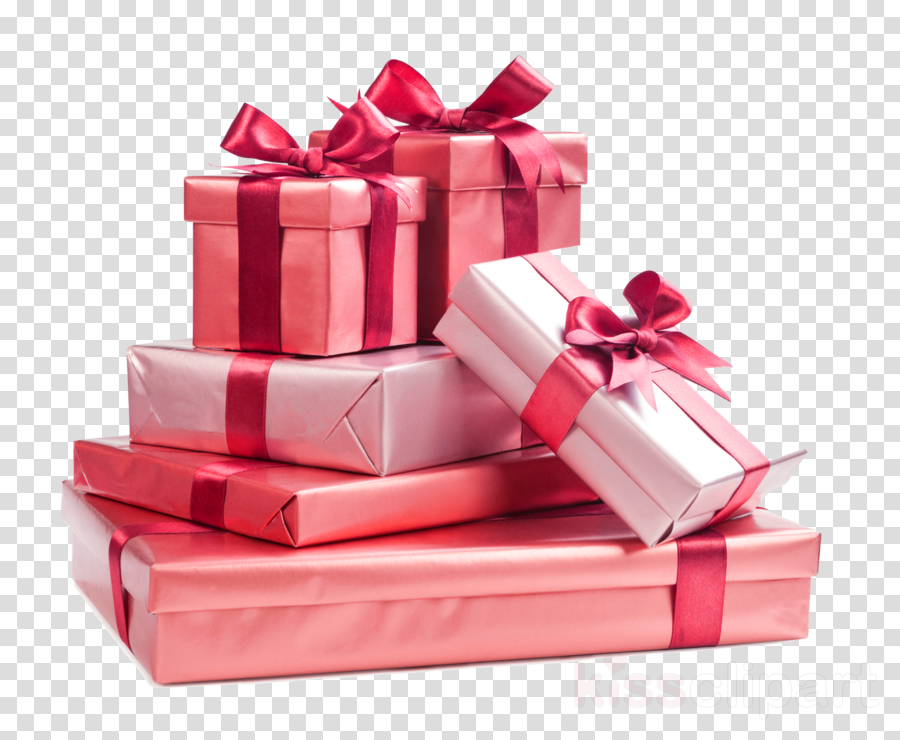 present pink red ribbon gift wrapping