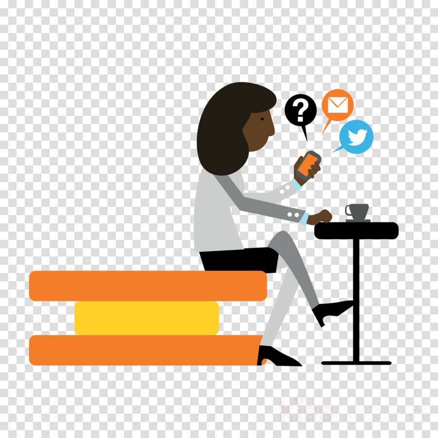 cartoon sitting conversation logo