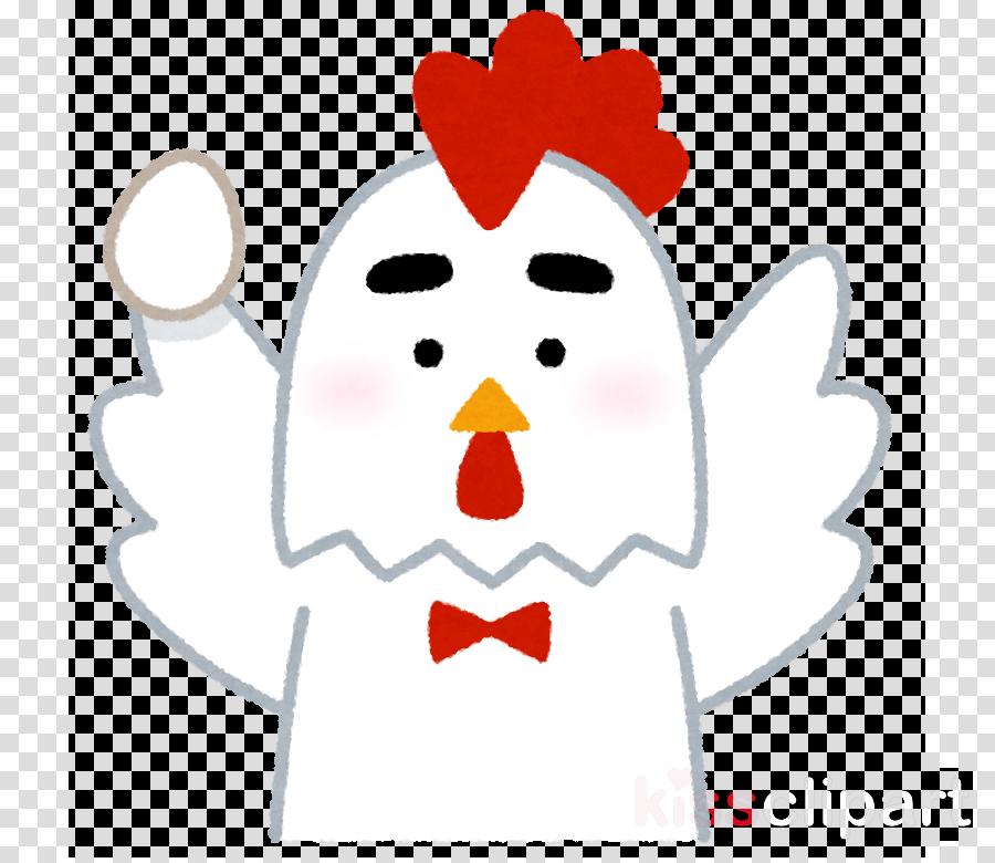 white cartoon nose chicken sticker