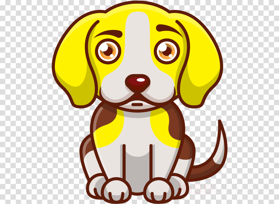 dog yellow cartoon nose snout