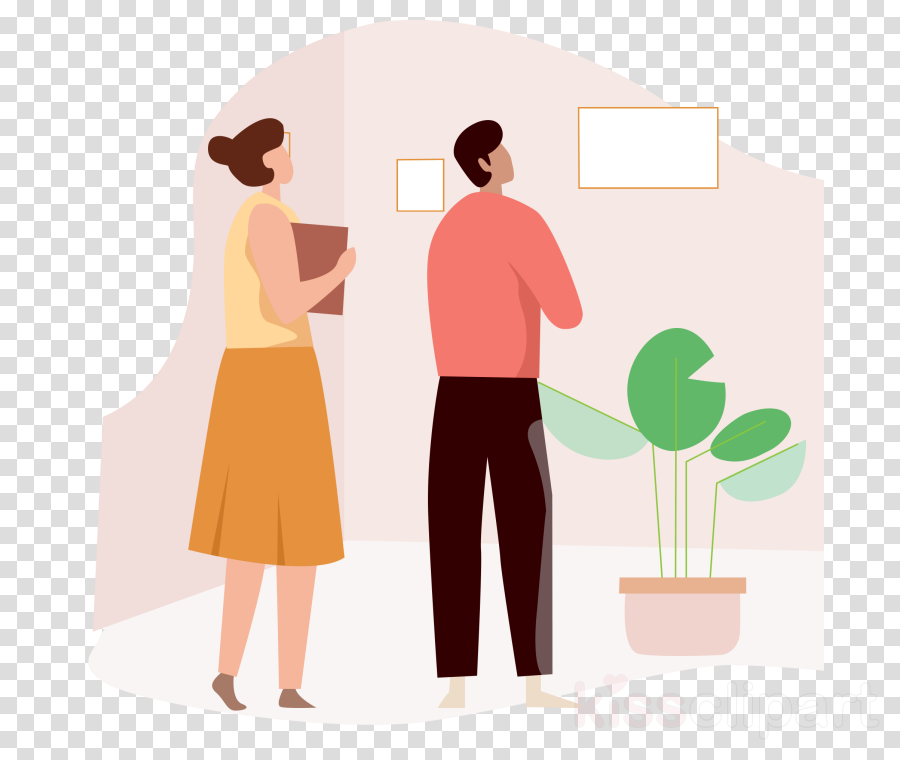 cartoon standing gesture conversation plant