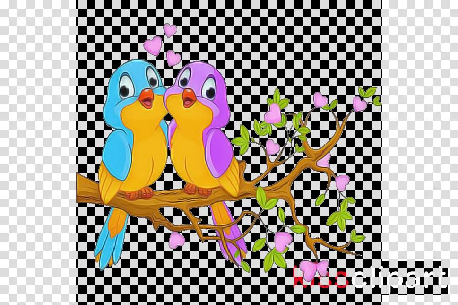 branch bird cartoon wall sticker animal figure