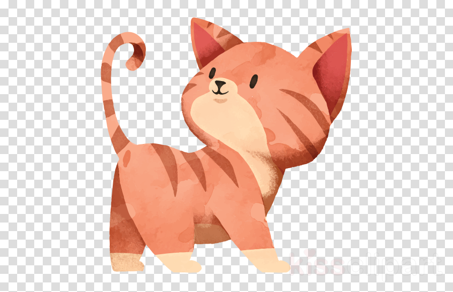 cartoon cat pink animal figure whiskers