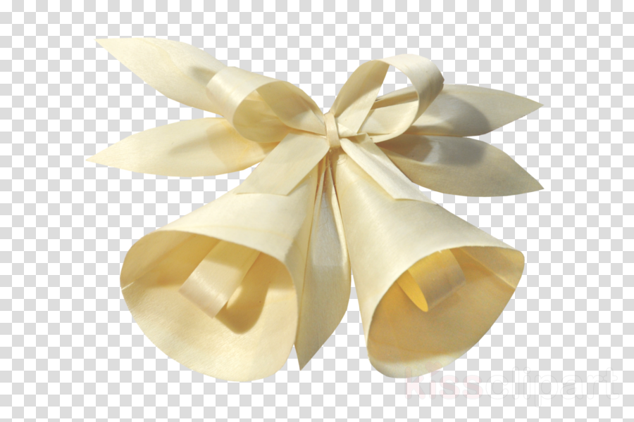 ribbon bell beige gift wrapping satin