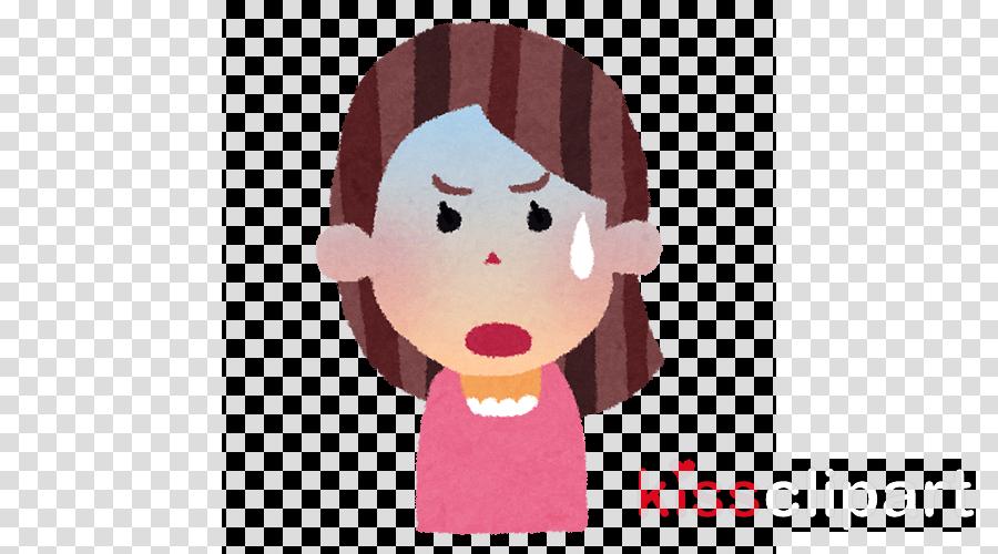 cartoon pink nose cheek lip