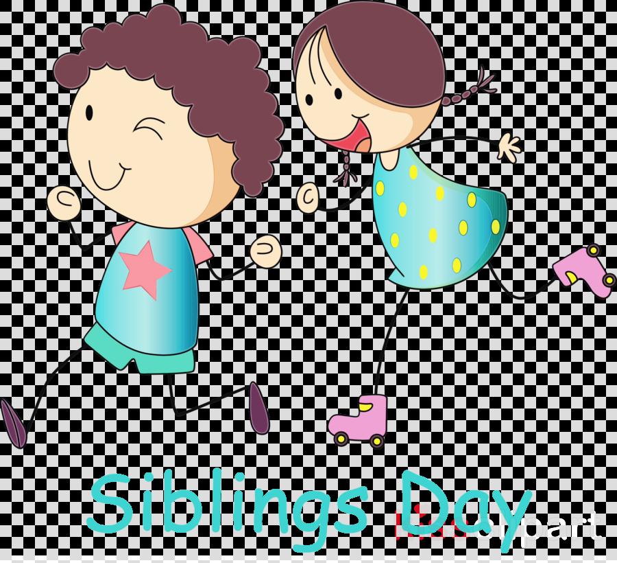 cartoon sharing line happy child