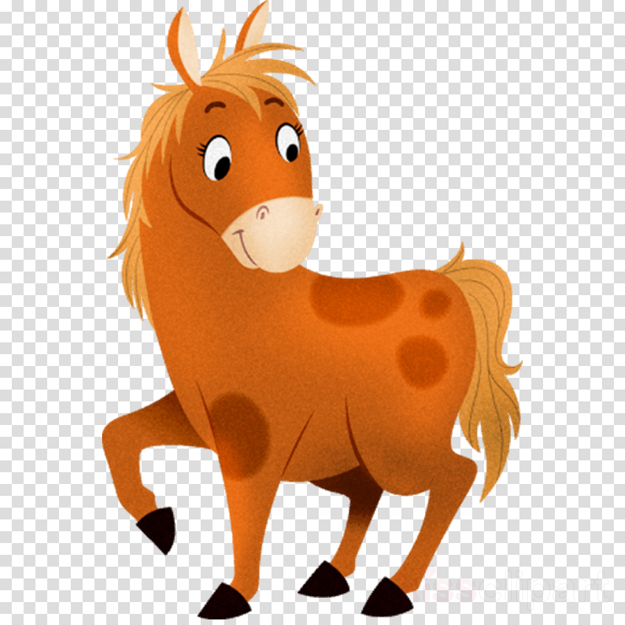 animal figure horse cartoon mane sorrel