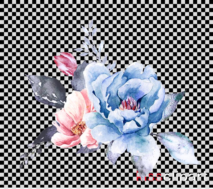 flower blue watercolor paint petal plant