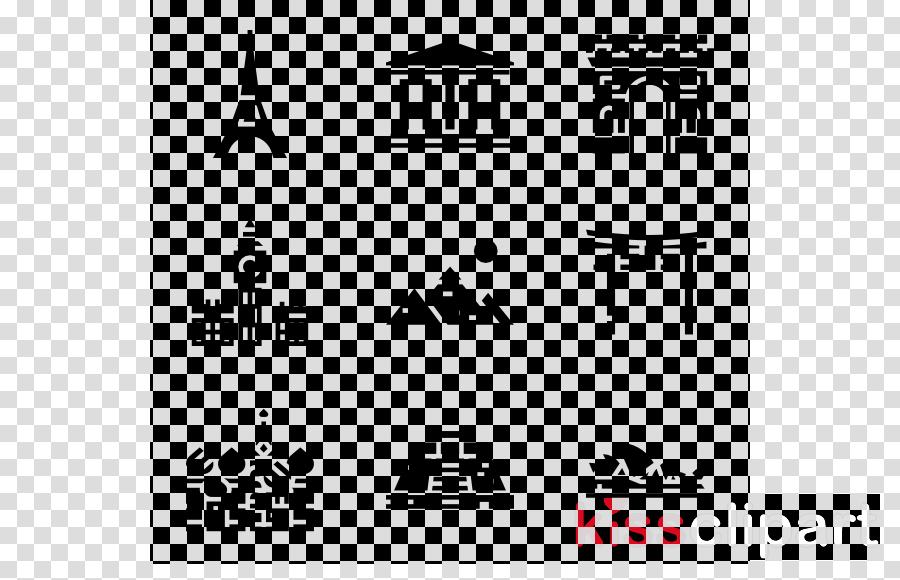 white text black font landmark