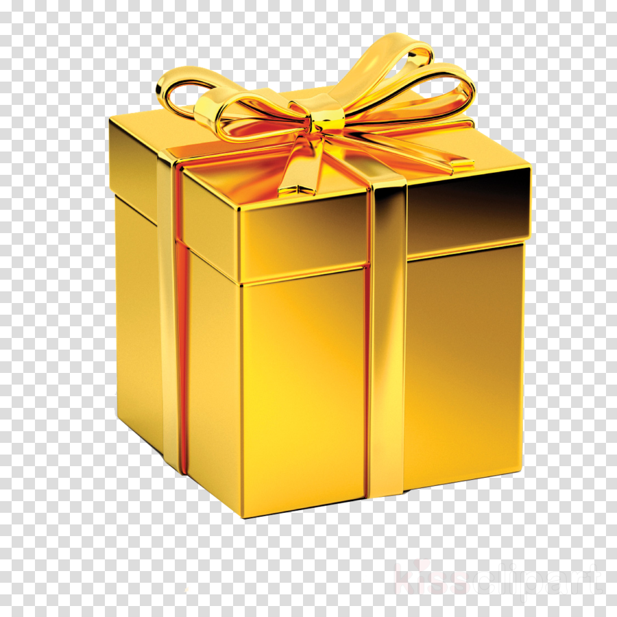 present box yellow ribbon gift wrapping