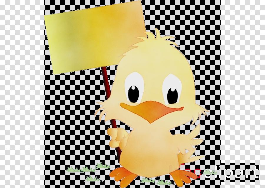 cartoon yellow bird chicken