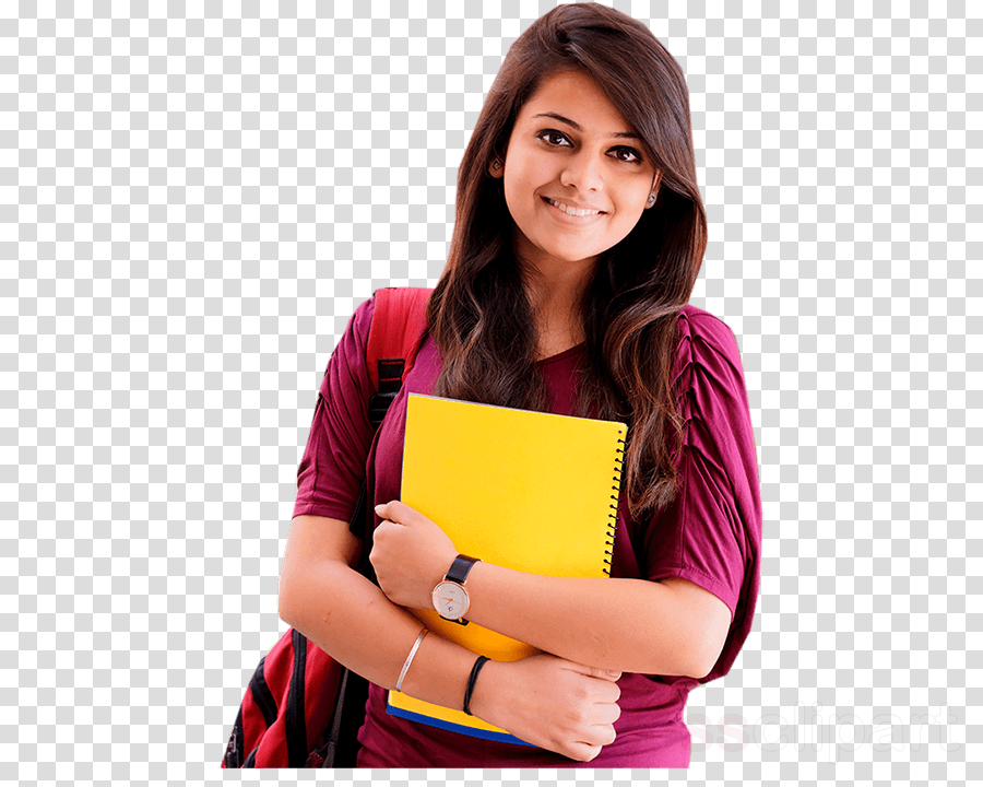 yellow shoulder magenta smile student