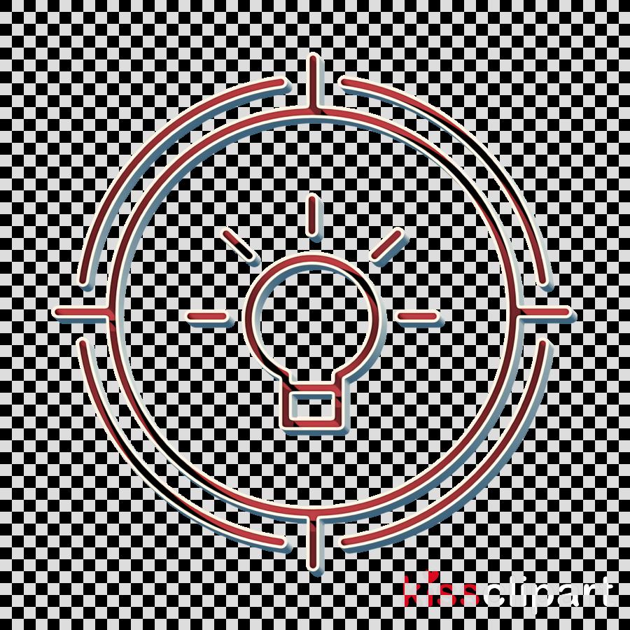 Idea icon Target icon Creative icon