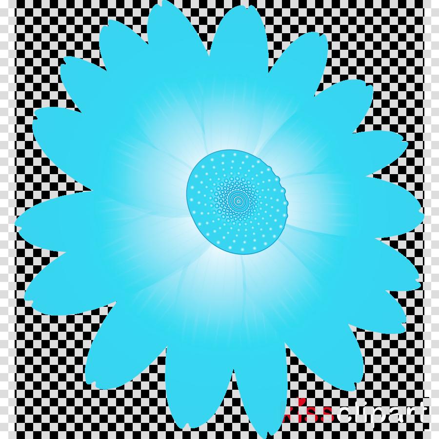 aqua blue turquoise petal plant