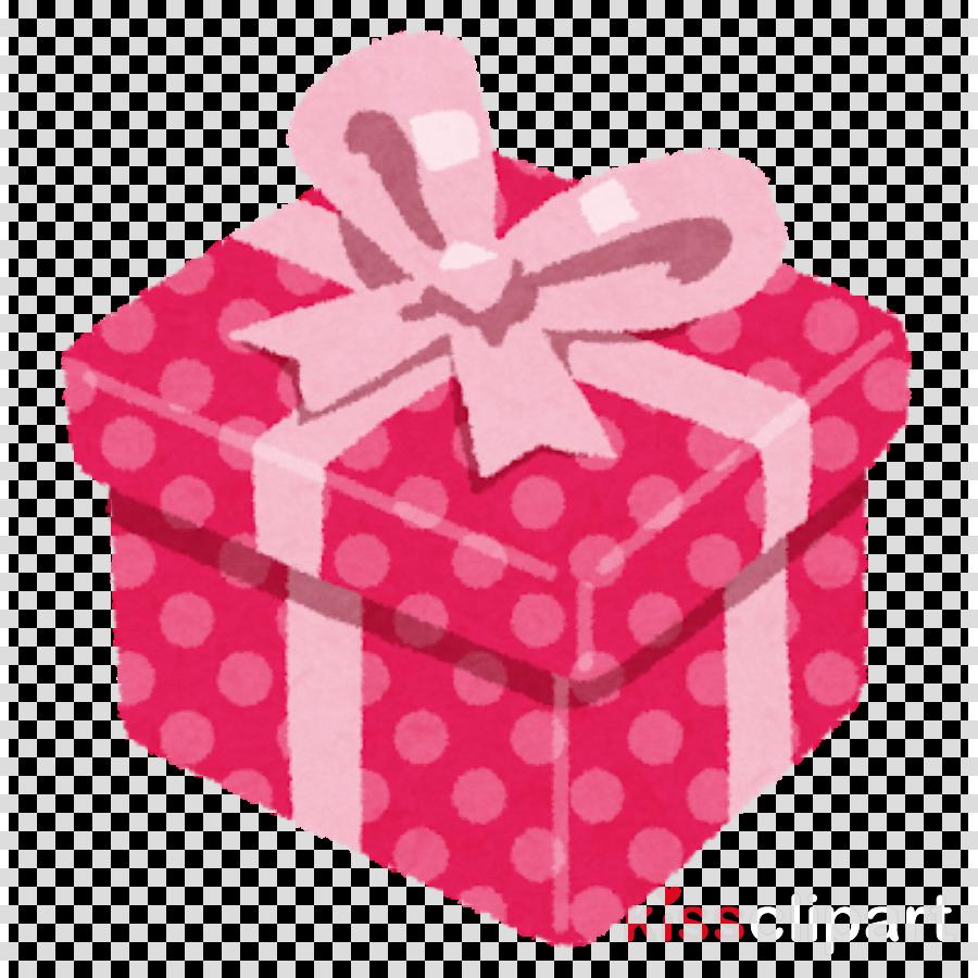 pink ribbon pattern party favor box