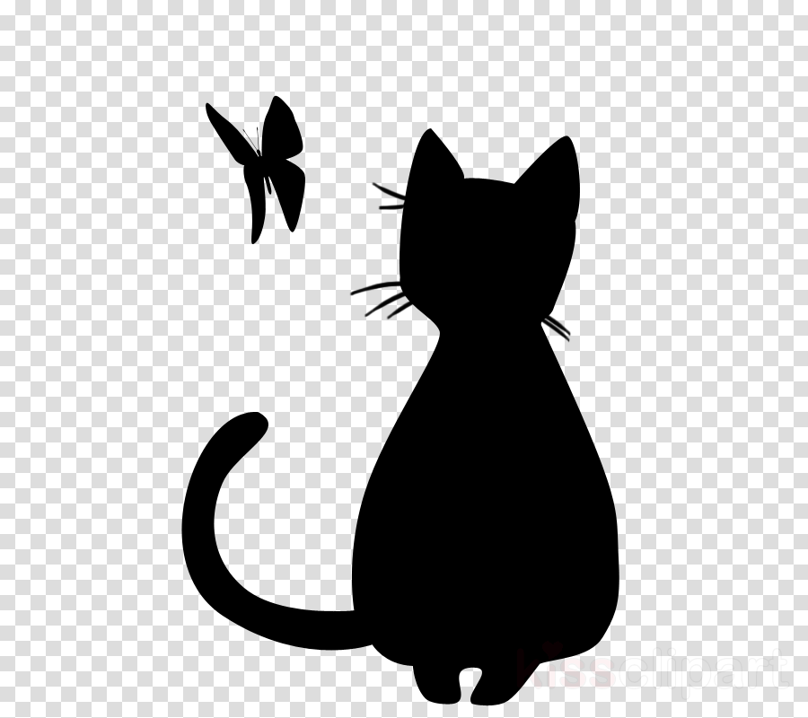 black cat cat whiskers silhouette mouse